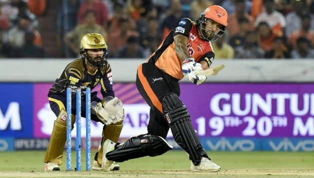 Shikhar Dhawan top-scored with a fine 50 © PTI