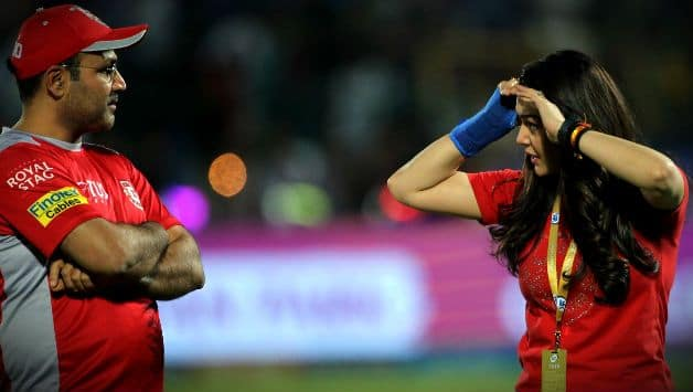 Was KXIP co-owner Preity Zinta angry with mentor Virender Sehwag after losing against RR