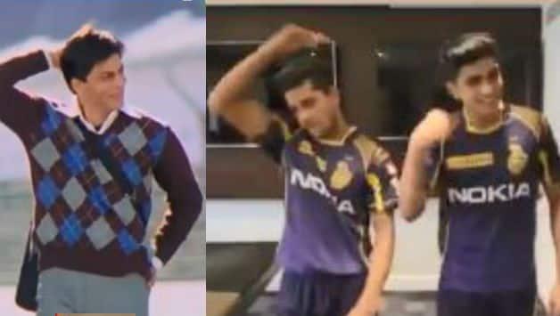 IPL 2018: kolkata Knight Riders' players perform on Shahrukh Khan famous dialogue