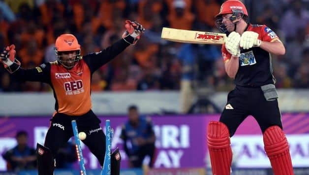 AB de Villiers was cleaned up by Rashid Khan when the teams last met © AFP