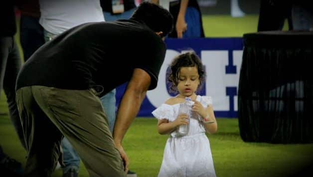 Before IPL final Cute Ziva dhoni's one more video goes viral