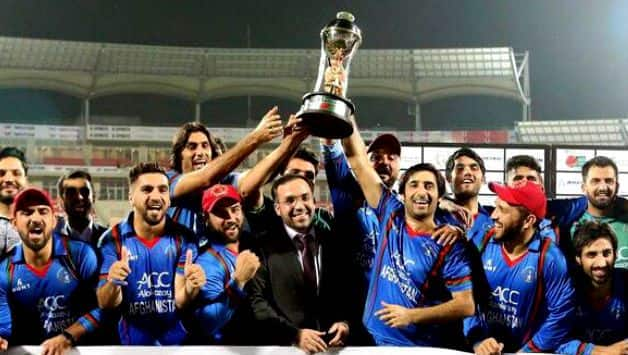 Afghanistan players did nagin dance after winning series against Banglandesh