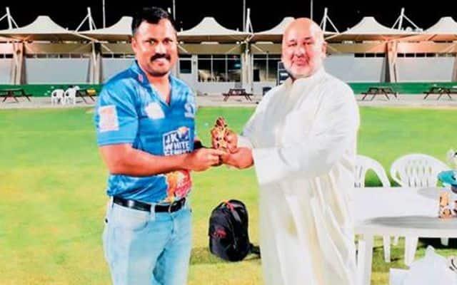Dubai cricketer Deepak Nicholas hits six sixes in an over in Ramadan League