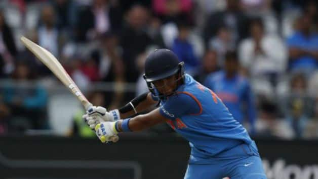 Harmanpreet played an responsible knock of 56 to take India to a fighting total © AFP (file image)