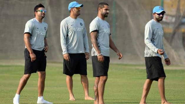 Indian players during practice session © AFP