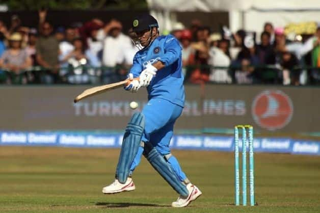 Virat Kohli surprisingly promoted MS Dhoni (above) to No. 4 © AFP