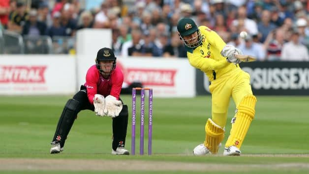 Marcus Stoinis scored 110 tot take Australia to 277 © Getty Images