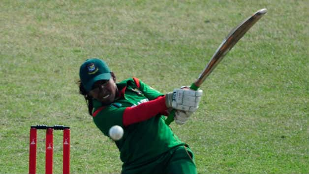 Rumana Ahmed was awarded the player of the match for her all round performance © AFP