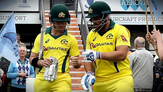 Aaron Finch and D'Arcy Short set opening partnership world record