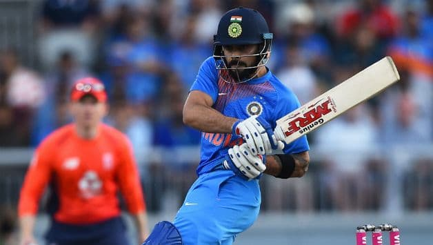 Virat Kohli became the first Indian to complete 2,000 T20I runs © AFP