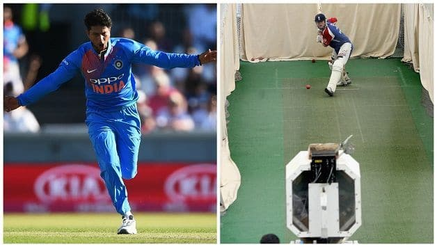 England Practising with bowling machine to tackle Kuldeep Yadav's mystery spin