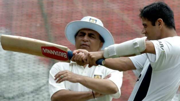 Sunil Gavaskar and Rahul Dravid © AFP