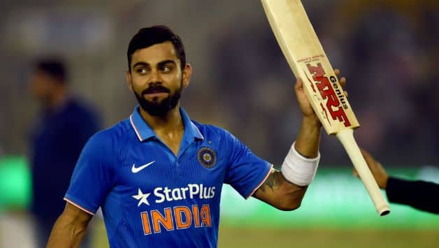 Virat Kohli became the quickest player to reach this landmark © AFP