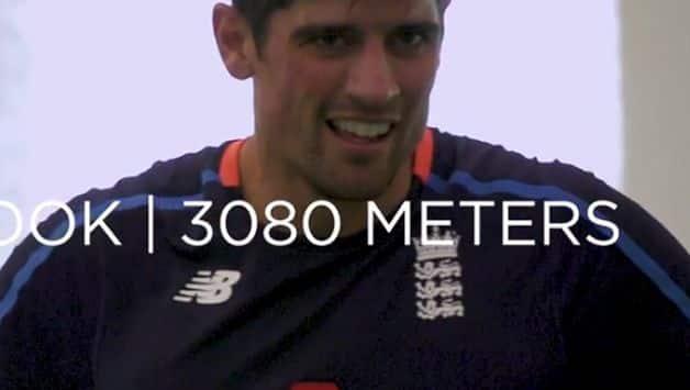 Alastair Cook clocked 3080 metres in Yo-Yo Test (Screengrab/ECB)