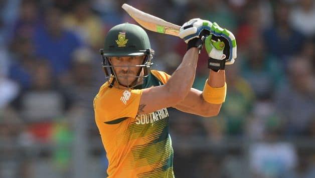 SL VS SA : Faf du Plessis praises JP Duminy fifty