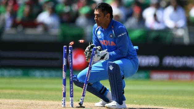ms dhoni fast wicket keeping against england