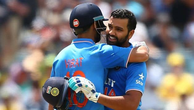 Rohit sharma, virat kohli duo become second to make 100 plus partnership in ODI after sachin Tendulkar, saurav ganguly