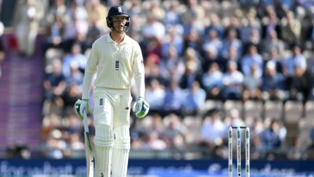 Keaton Jennings appeared to lose sight of a wildly swinging delivery from Bumrah that stayed low and hit him right in line with the stumps as he chose not to offer a shot