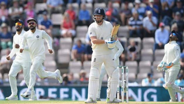 Jonny Bairstow, playing purely as a batsman, lasted 16 balls before he was made to play at another lovely ball from Bumrah which pitched, straightened and took the edge.