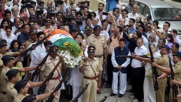 Ajit Wadekar's funeral procession © PTI