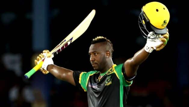 Caribbean Premier League: Andre Russell takes hat-trick and hammering 49-ball 121