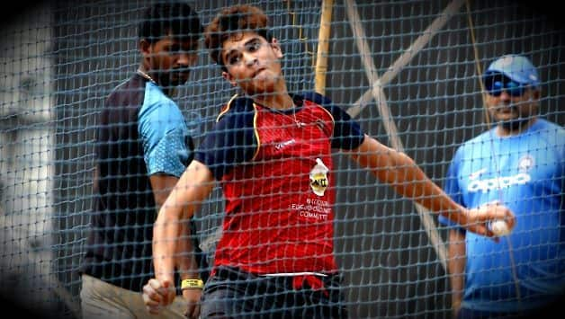 Indian Cricket Team Call on Arjun Tendulkar in nets to combat the left arm pace of Sam Curran