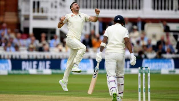 James Anderson strikes in Lord's Test, as he dismisses KL Rahul and Murali Vijay