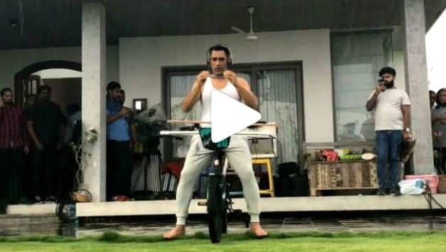 MS Dhoni does a risky bicycle stunt in new Instagram video