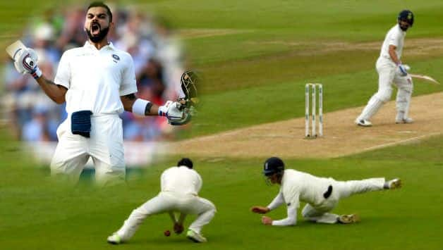 India vs England: Virat Kohli hits 149 as England regret dropped catches