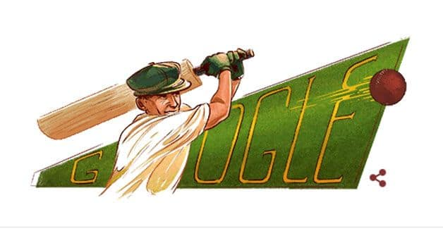 Google doodle honours Don Bradman on 110th birth anniversary
