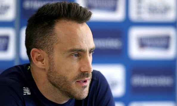 Injured Faf du Plessis unlikely for Zimbabwe series