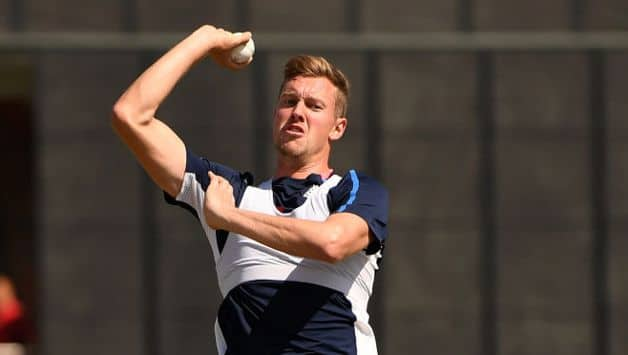 Nottinghamshire and England fast bowler Jake Ball has been ruled out for the remainder of the 2018 season with a back injury.