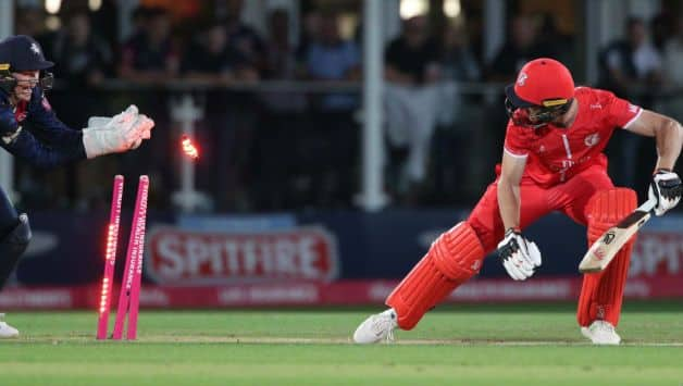 T20 Blast quarter-final:Jos Buttler fails against Kent; Lancashire reach semifinal