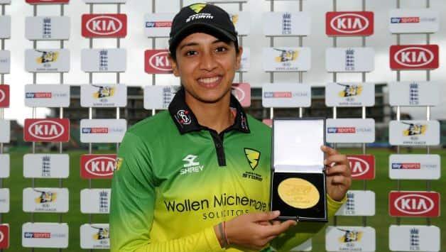 Kia Super League: Smriti Mandhana wins player of the tournament award