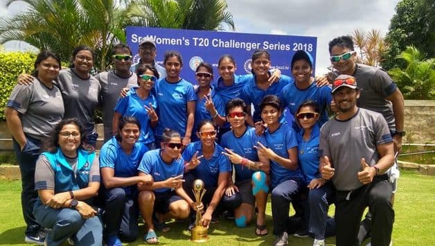 India Blue won the final of the Women's T20 Challenger Trophy beating India Red by four wickets at the Alur Cricket Stadium-II, Karnataka on Tuesday.
