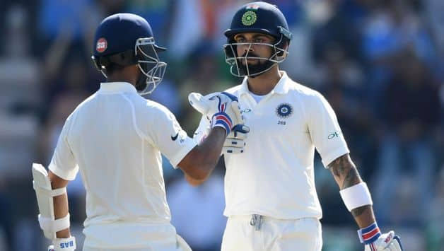 Post lunch, Kohli and Rahane had looked to play for time and tried cutting down all risky strokes