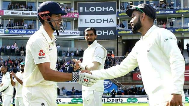 Alastair Cook gets guard of honour from India in farewell Test