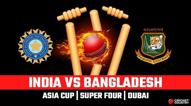 Asia Cup 2018, India vs Bangladesh, LIVE Cricket Score, Super Four, Dubai: India beat Bangladesh by seven wickets