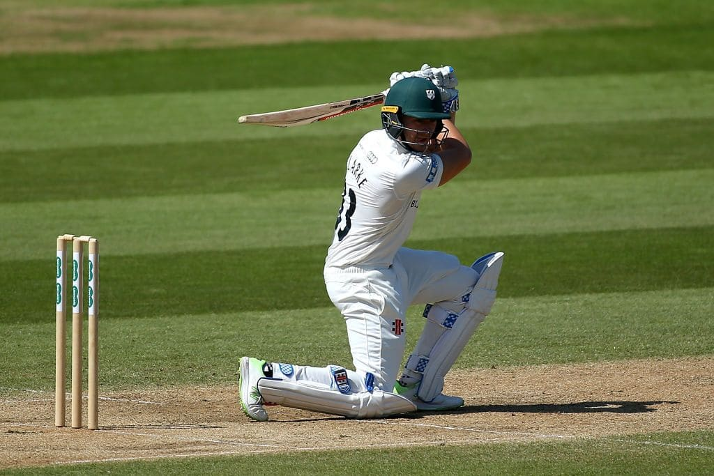 Joe Clarke bats at No 3 in county cricket, but could be seen as an opening prospect.