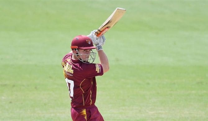 JLT One-Day Cup: Teenager Max Bryant hits fastest fifty for Queensland
