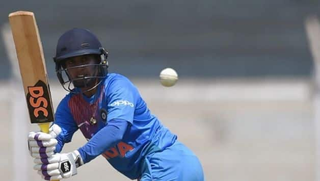 Mithali Raj and Tanya Bhatia got together for a stand of 76 runs for the fifth wicket before Raj was scalped by Shashikala Siriwardene for 52.