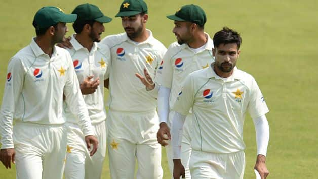 Out-form pacer Mohammad Amir has been dropped from Pakistan's 17-member squad for the two-Test series against Australia in UAE starting October 7 in Dubai.