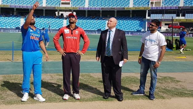Hong Kong captain Anshuman Rath won the toss and sent India into bat in their Asia Cup Group A match in Dubai on Tuesday.