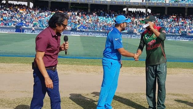 Indian captain Rohit Sharma won the toss and elected to bowl first against Bangladesh in the Asia Cup 2018 final at the Dubai International Stadium, Dubai on Friday.