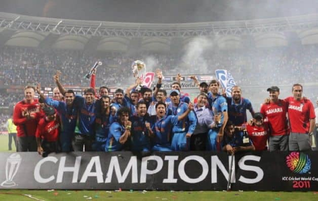 India won the 2011 World Cup after a six-wicket win over Sri Lanka in the final. @ Getty Images
