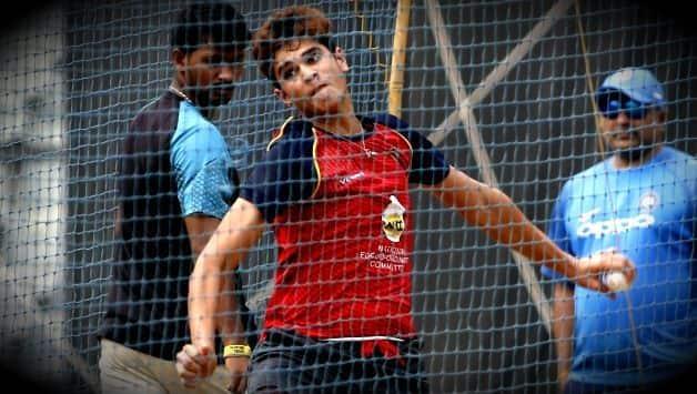 Arjun tendulkar taken 5 wicket in Vinoo Mankod Trophy U19