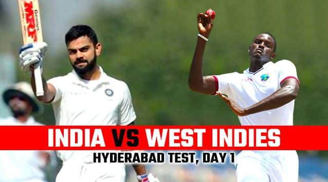 India vs West Indies 2018, 2nd Test, Day 1 Live cricket score and updates: West Indies finish Day 1 on 295/7
