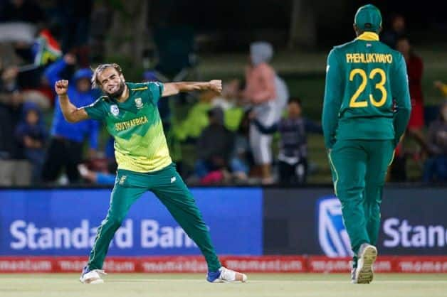 Leg-spinner Imran Tahir took six wickets, including a hat-trick against ZImbabwe in the second ODI. @ Getty Images