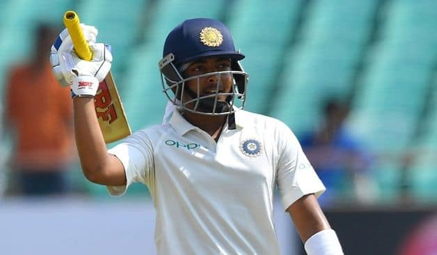 Prithvi Shaw scored a century on debut in the first Test against West Indies at Rajkot. @ AFP