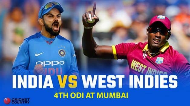 India vs West Indies 2018, 4th ODI, LIVE cricket score, Mumbai: Ravindra Jadeja, Kedar Jadhav in as India opt to bat